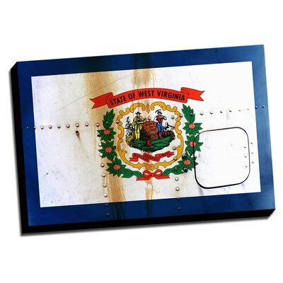 West Virginia Distressed Colorful National Patriotic Flag Wall Art on Canvas by Picture it on ...