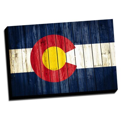 Colorado Distressed Colorful National Patriotic Flag Painting Print on Wrapped Canvas by ...