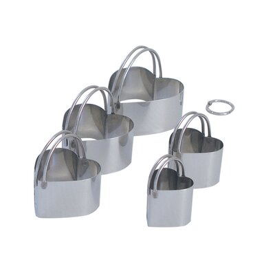 5 Piece Heart Biscuit Cutter Set by R & M International Corp.