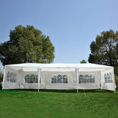 30 Ft. W x 10 Ft. D Window Gazebo Canopy by Outsunny