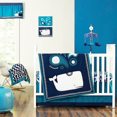 Party Whale 4 Piece Crib Bedding Set by Happy Chic Baby by Jonathan Adler