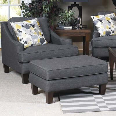 Catherine Arm Chair and Ottoman by Sage Avenue