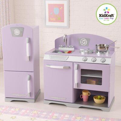KidKraft 2 Piece Retro Kitchen and Refrigerator Set