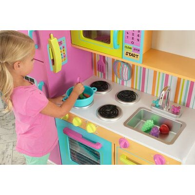 Deluxe Big Bright Play Kitchen By KidKraft .
