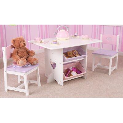 KidKraft Heart Kids 7 Piece Table & Chair Set