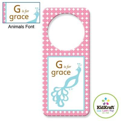 KidKraft Personalized Girl Animal Door Hanger