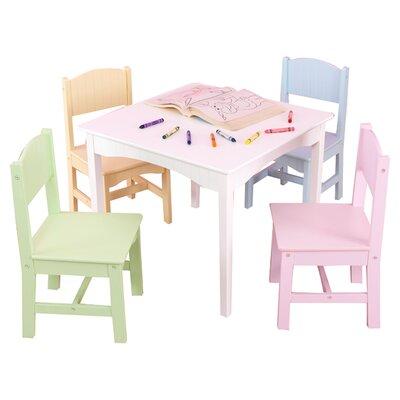 KidKraft Nantucket Kids 5 Piece Table & Chair Set Set 26101 KK1010