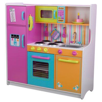 kidkraft deluxe big bright kitchen play set reviews. Black Bedroom Furniture Sets. Home Design Ideas