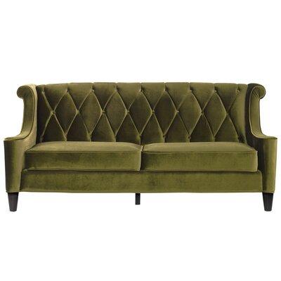 Armen Living Barrister Velvet Sofa Reviews Wayfair