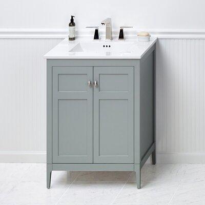 briella 24 bathroom vanity cabinet base in ocean gray wayfair