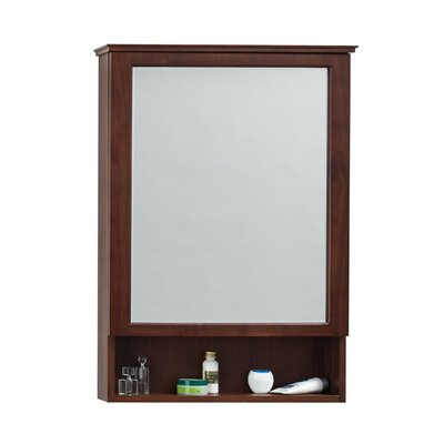 "24"" x 34"" Surface Mount Solid Wood Framed Medicine Cabinet in American Walnut Product Photo"
