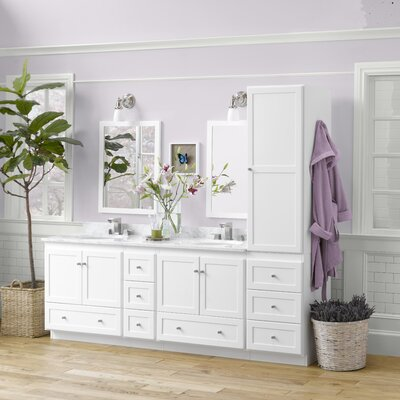 "Shaker 90"" Double Bathroom Vanity Set with Mirror Product Photo"