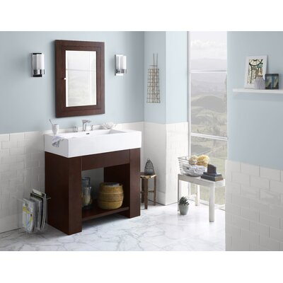 "Ronbow Zenia 36"" Bathroom Vanity Base Cabinet in Dark Cherry"