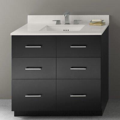 Lassen 36 Eco Friendly Bathroom Vanity Cabinet Base In Black Wayfair