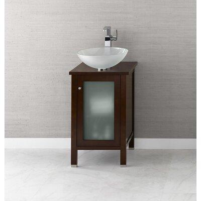 "Ronbow Cami 18"" Bathroom Vanity Base Cabinet in Dark Cherry"