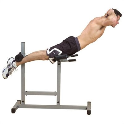 Flat Hyperextension Bench by Powerline