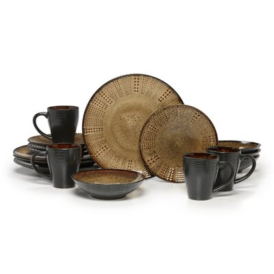 Linden 16 Piece Dinnerware Set by Gourmet Basics by Mikasa