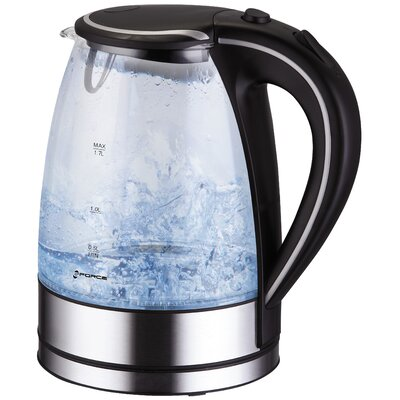 1.8-qt. Stainless Steel and Glass Illuminated Electric Tea Kettle by GForce