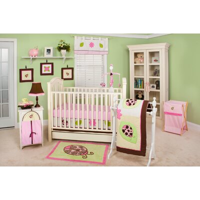 Ladybug Lucy 10 Piece Crib Bedding Set by Pam Grace Creations