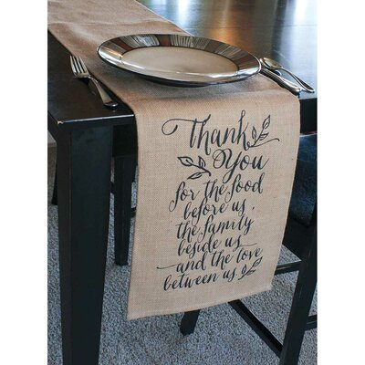 Thank You Table Runner by Jozie B