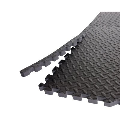 """Cap Barbell 0.5"""" Anti Microbial 6 Piece Mat Set with Borders"""