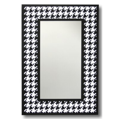 Houndstooth Decorative Wall Mirror by Leick