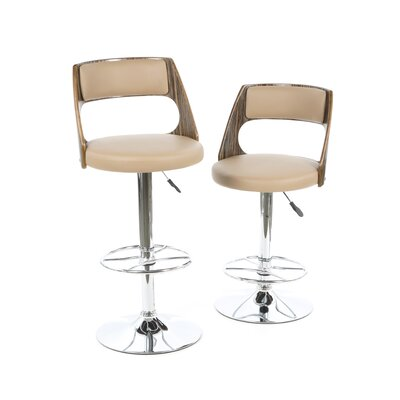 Leick Furniture Favorite Finds Adjustable Height Swivel Bar Stool with Cushion