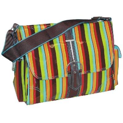 Multitasker Monkey Stripes Messenger Bag by Hadaki