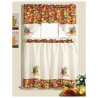 Curtains Ideas apple curtains for kitchen : Apple Kitchen Curtains - Everything Log Homes