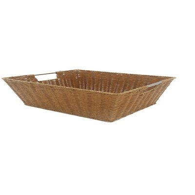 Javanese Style Plastic Wicker Basket with Stainless Steel Handle by MImo Style Homegoods