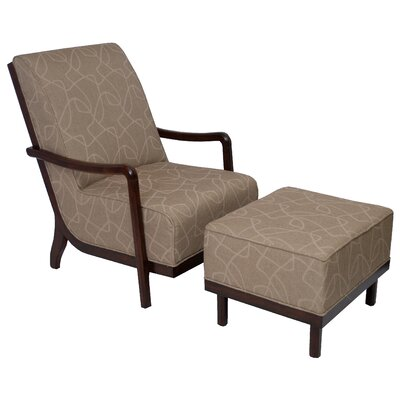 Manhattan Fabric Lounge Chair and Ottoman by Carolina Accents