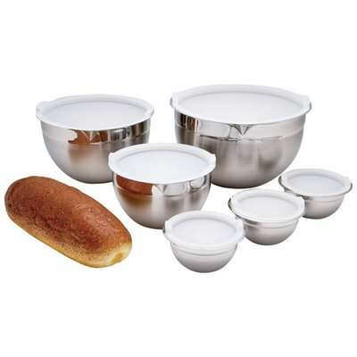 12 Piece Stainless Steel Mixing Bowl Set by Chef's Secret