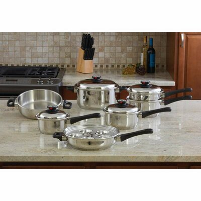 Maxam 12 Piece Stainless Steel Cookware Set by Chef's Secret