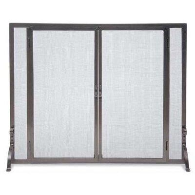 Full Height Door 1 Panel Steel Fireplace Screen by Pilgrim Hearth