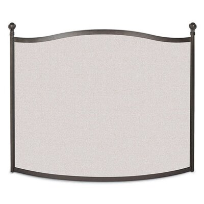 Bowed Ball and Claw 1 Panel Steel Fireplace Screen by Pilgrim Hearth