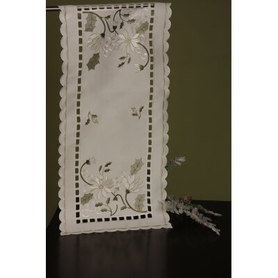 Holiday Winter Frost Table Runner by Wimpole Street Creations