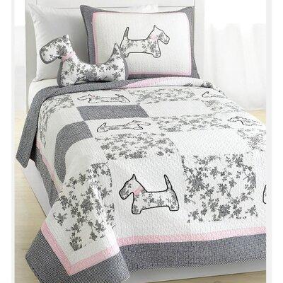 Scottie Pup Quilt Set by Cozy Line Home Fashion