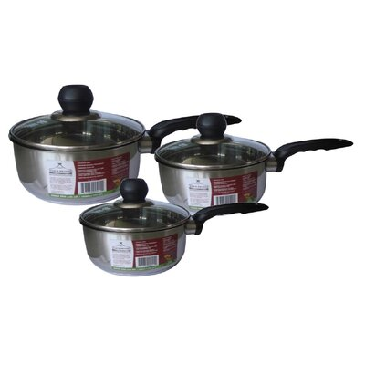 3 Piece Saucepan Set with Lid by Wee's Beyond