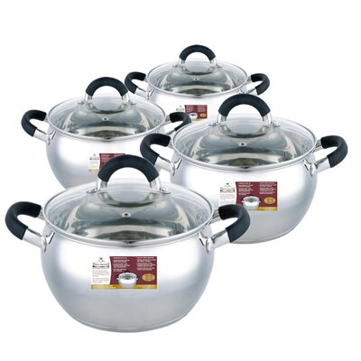 4 Piece Sauce Pot Set with Lid by Wee's Beyond