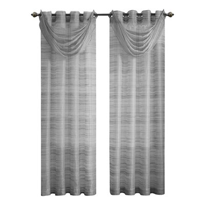VCNY Bryce Grommet Single Curtain Panel