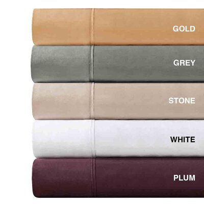Madison Park 600 Thread Count Pima Solid Cotton Sheet Set
