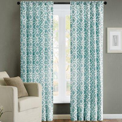 Delray Diamond Single Curtain Panel Product Photo