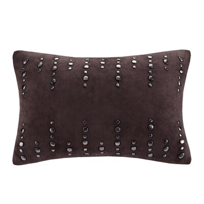 Stud Oblong Suede Lumbar Pillow by Madison Park
