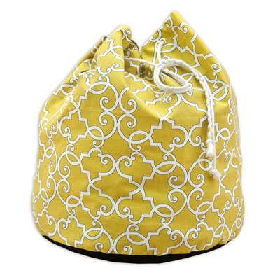 Brite Ideas Living Woburn Sunflower Round Laundry Bag with 4 Grommets