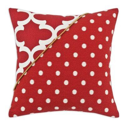 Fynn Ikat Dot Corner Cording Cotton Throw Pillow by Brite Ideas Living