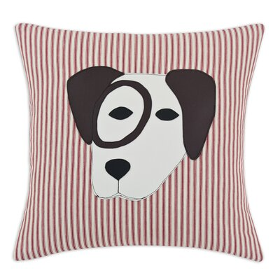 Puppy Stripe Cotton Throw Pillow by Brite Ideas Living