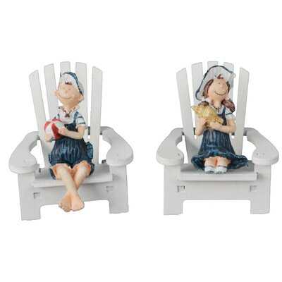 Decorative Hand Painted Beach Chair with Boy/Girl Set by AttractionDesignHome