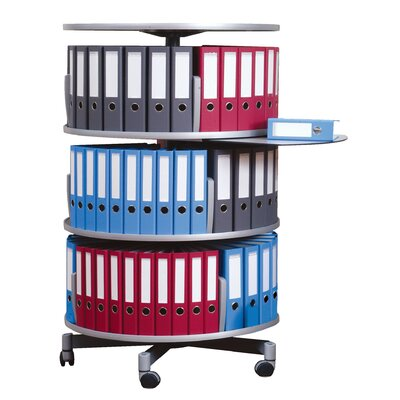 Moll Deluxe Binder & File Carousel Three Tier Shelving Unit