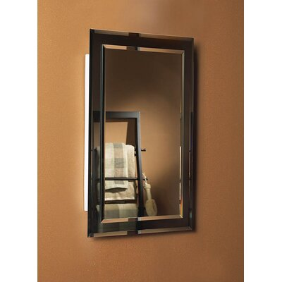"Mirror on Mirror 16"" x 26"" Recessed Beveled Edge Medicine Cabinet Product Photo"