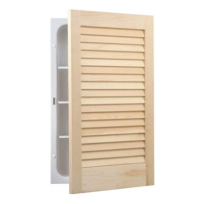 "Louver 16"" x 26"" Recessed Flat Edge Medicine Cabinet Product Photo"
